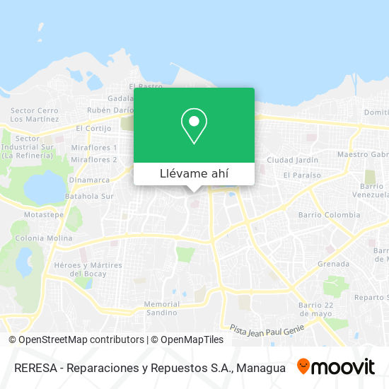 Mapa de RERESA - Reparaciones y Repuestos S.A.