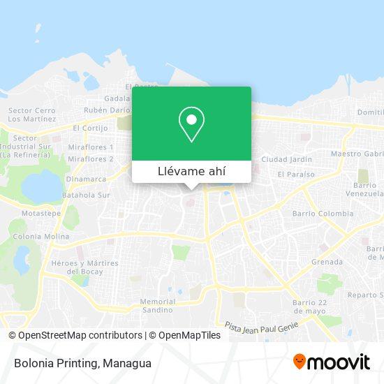 Mapa de Bolonia Printing