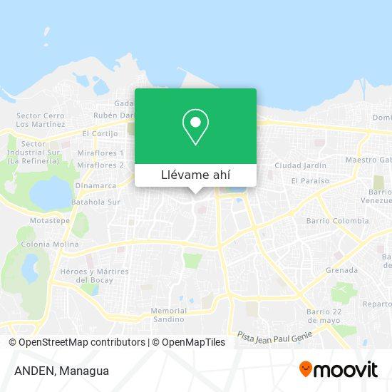 Mapa de ANDEN