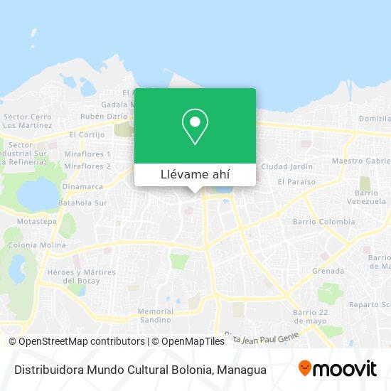 Mapa de Distribuidora Mundo Cultural Bolonia