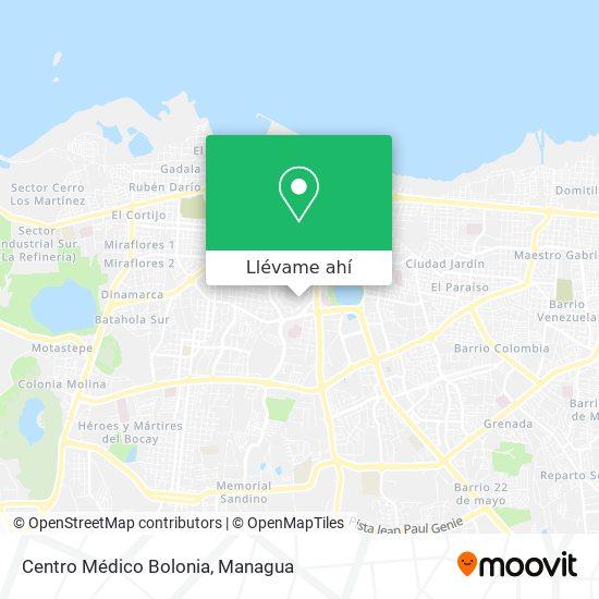 Mapa de Centro Médico Bolonia