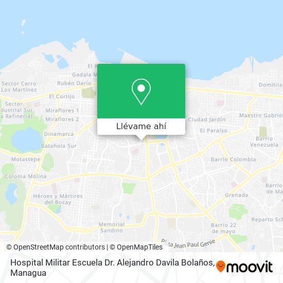 Mapa de Hospital Militar Escuela Dr. Alejandro Davila Bolaños