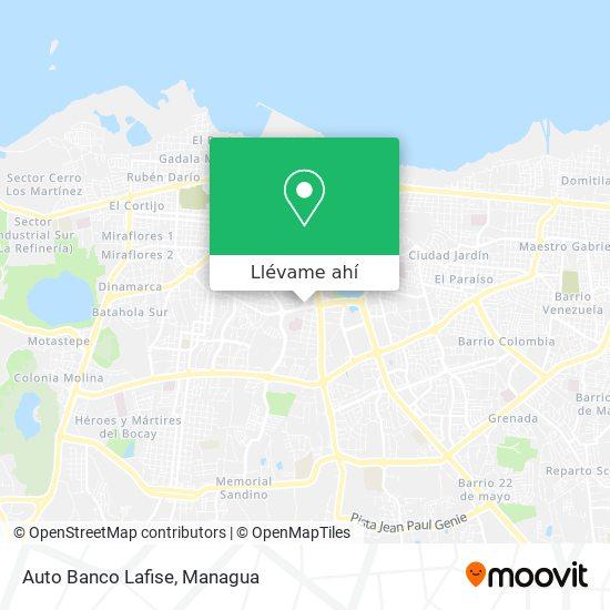 Mapa de Auto Banco Lafise