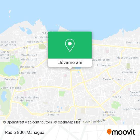 Mapa de Radio 800