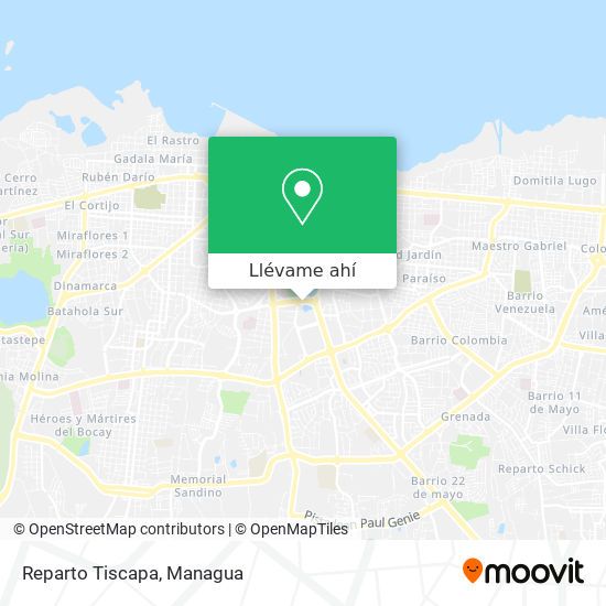 Mapa de Reparto Tiscapa