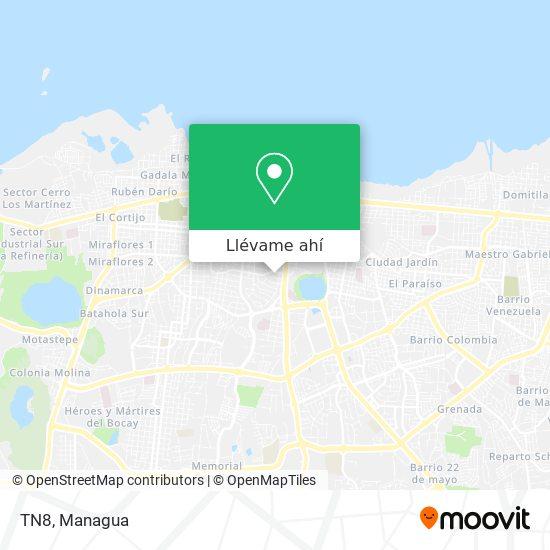 Mapa de TN8