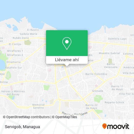 Mapa de Servigob