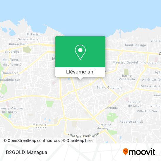 Mapa de B2GOLD