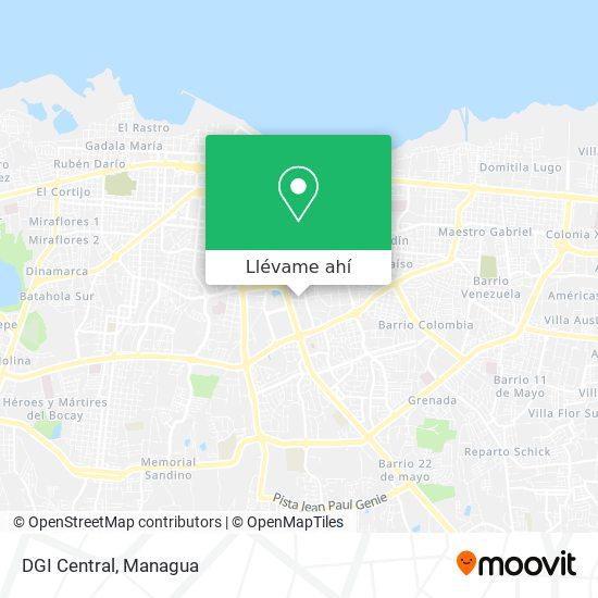 Mapa de DGI Central