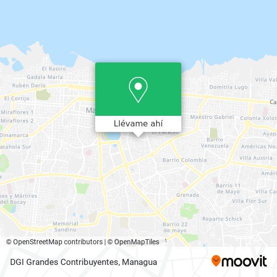 Mapa de DGI Grandes Contribuyentes