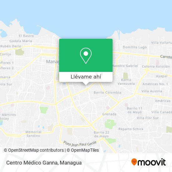 Mapa de Centro Médico Ganna