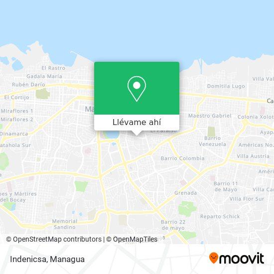 Mapa de Indenicsa