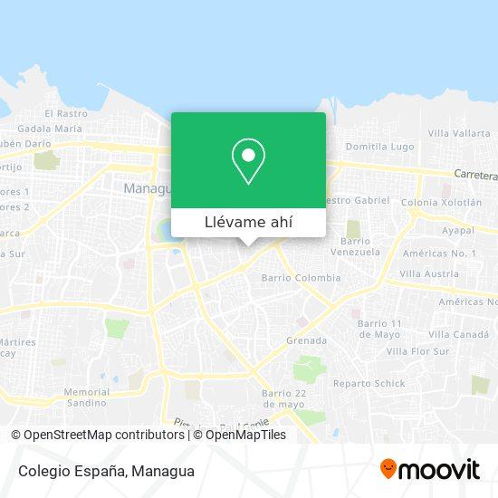 Mapa de Colegio España