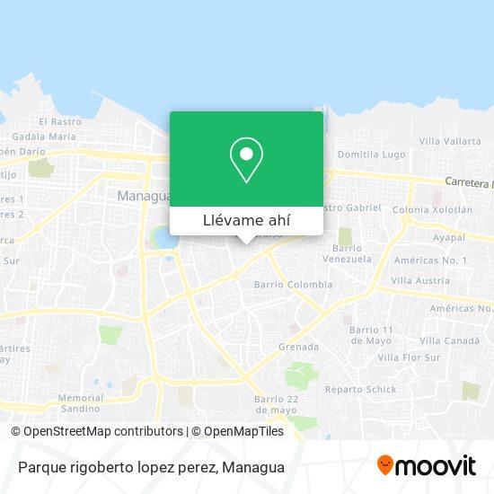 Mapa de Parque rigoberto lopez perez