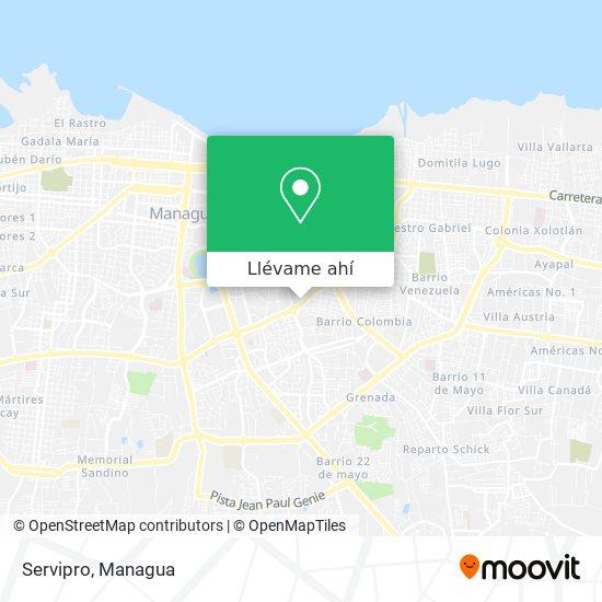 Mapa de Servipro