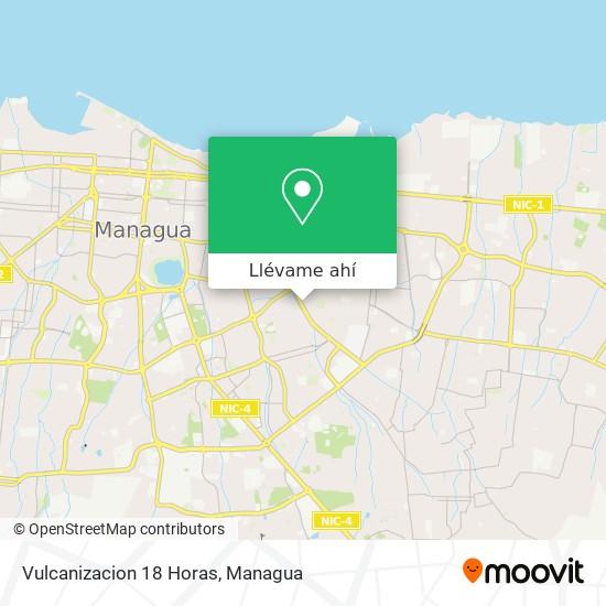 Mapa de Vulcanizacion 18 Horas