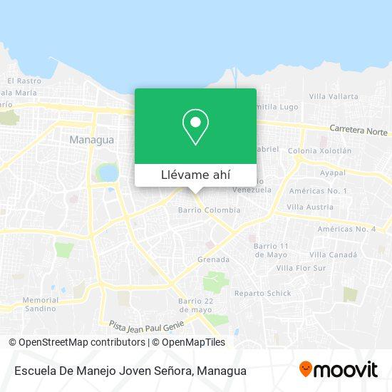 Mapa de Escuela De Manejo Joven Señora
