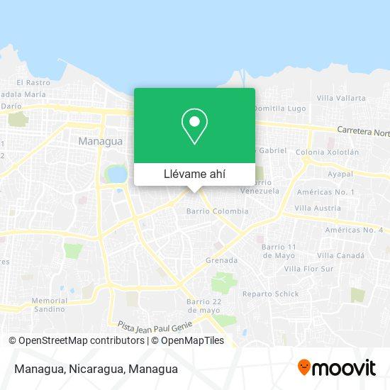 Mapa de Managua, Nicaragua