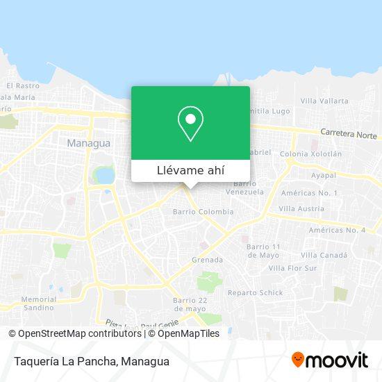 Mapa de Taquería La Pancha