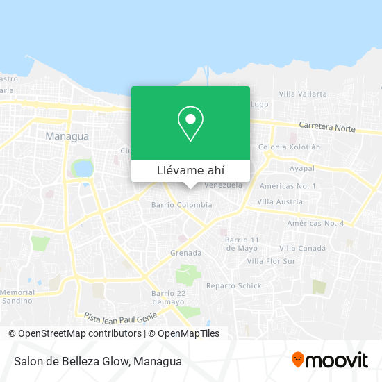 Mapa de Salon de Belleza Glow