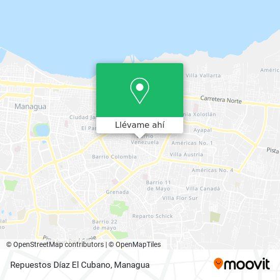 Mapa de Repuestos Díaz El Cubano