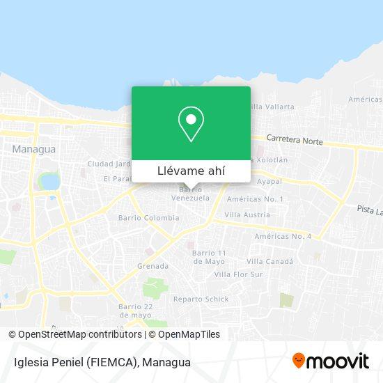 Mapa de Iglesia Peniel (FIEMCA)