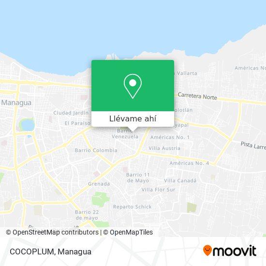 Mapa de COCOPLUM