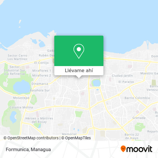 Mapa de Formunica