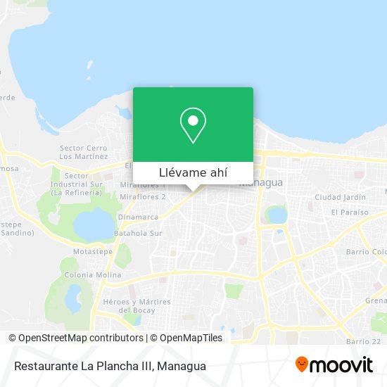 Mapa de Restaurante La Plancha III