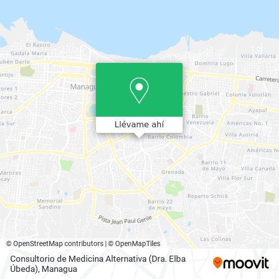 Mapa de Consultorio de Medicina Alternativa (Dra. Elba Úbeda)