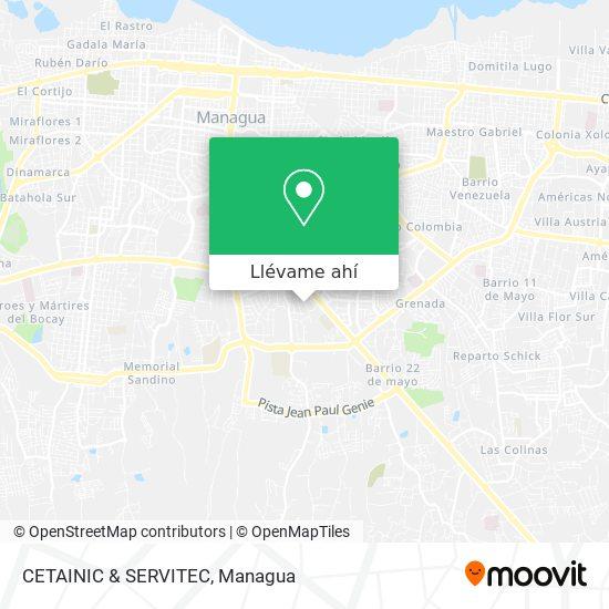 Mapa de CETAINIC & SERVITEC