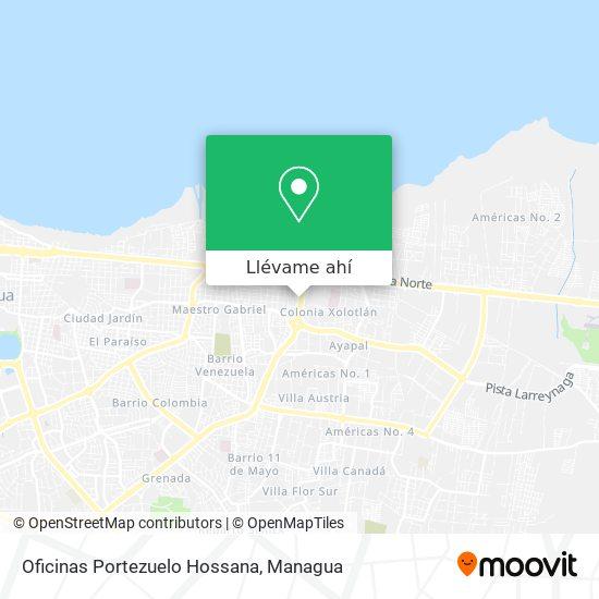 Mapa de Oficinas Portezuelo Hossana