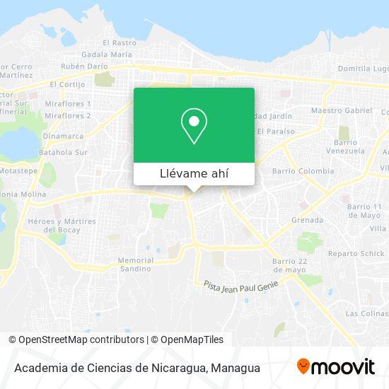 Mapa de Academia de Ciencias de Nicaragua