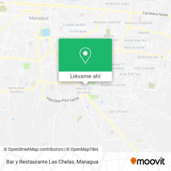 Mapa de Bar y Restaurante Las Chelas