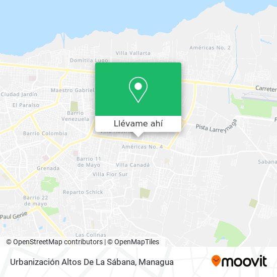 Mapa de Urbanización Altos De La Sábana
