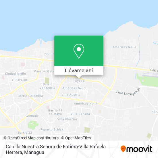 Mapa de Capilla Nuestra Señora de Fátima-Villa Rafaela Herrera