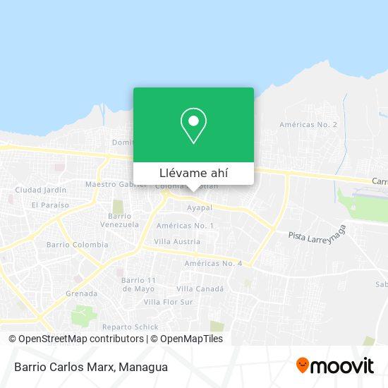 Mapa de Barrio Carlos Marx