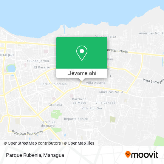Mapa de Parque Rubenia