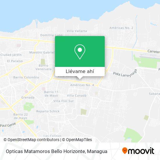 Mapa de Opticas Matamoros Bello Horizonte