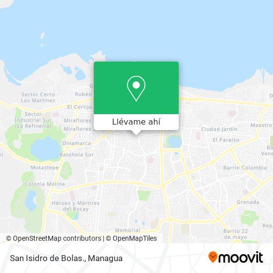 Mapa de San Isidro de Bolas.