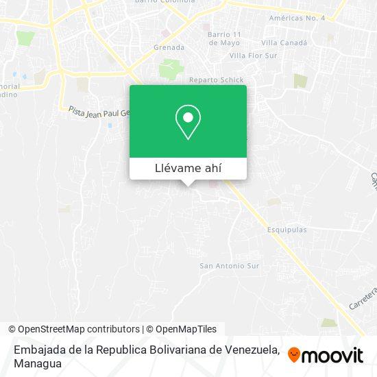 Mapa de Embajada de la Republica Bolivariana de Venezuela