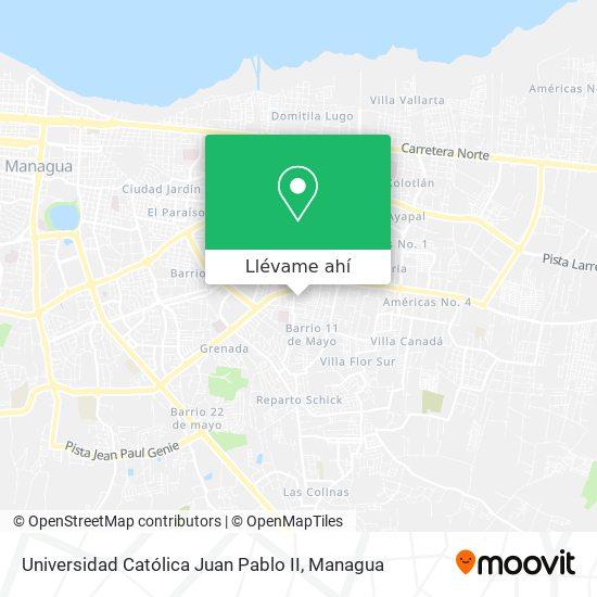 Mapa de Universidad Católica Juan Pablo II