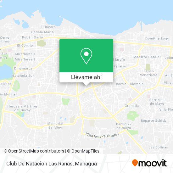 Mapa de Club De Natación Las Ranas