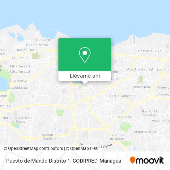Mapa de Puesto de Mando Distrito 1, CODIPRED