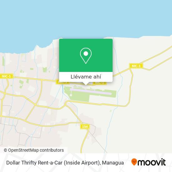 Mapa de Dollar Thrifty Rent-a-Car (Inside Airport)