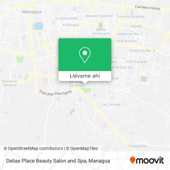 Mapa de Delias Place Beauty Salon and Spa