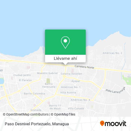 Mapa de Paso Desnivel Portezuelo