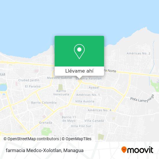 Mapa de farmacia Medco-Xolotlan