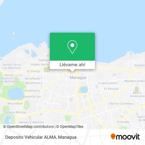 Mapa de Deposito Vehicular ALMA