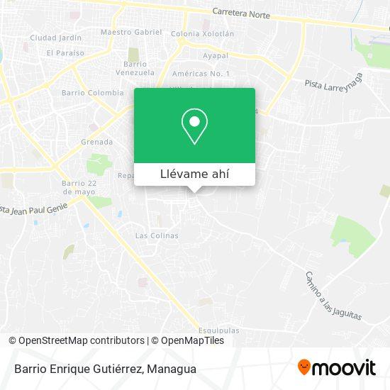 Mapa de Barrio Enrique Gutiérrez